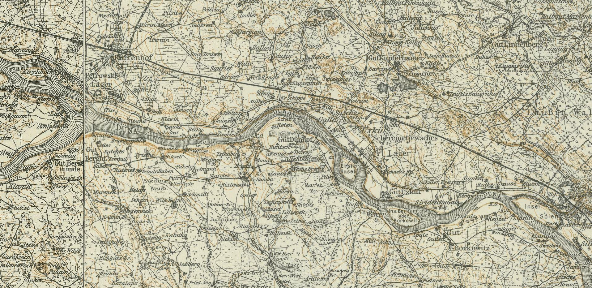Karte uexkull 1914-1919